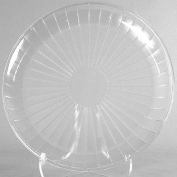 1 X Clear Plastic Serving Platter, Round 18-inch (Tray Plastic Rigid)