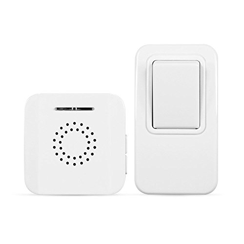 Battery-Free MightyHand Wireless Doorbell w/38 Tunes & 394 ft Range –For Homes, Apartments & Home Care; Easy (Wire Free Doorbell)