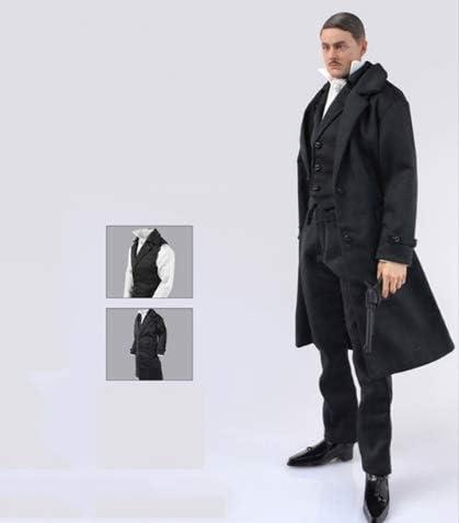 1/6 Male Coat Vest Shirt Pants Set Clothes for 12 Inch Action Figures Models Doll