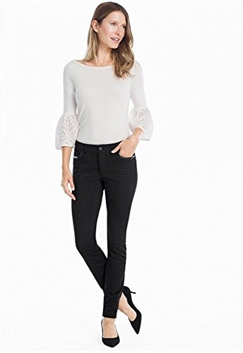 WHBM White House Black Market Womens Subtle Houndstooth Ponte Skinny Ankle Zip Pants - Size 14 from WHBM
