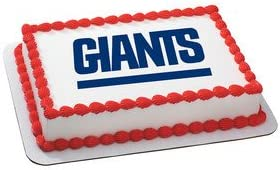 Excellent Amazon Com New York Giants Licensed Edible Cake Topper 4485 Funny Birthday Cards Online Inifofree Goldxyz