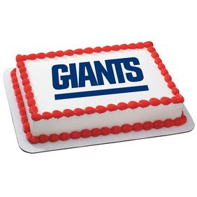 Amazon.com: New York Giants Licensed Edible Cake Topper #4485 ...
