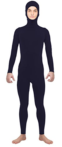 VSVO Adult Navy Open Face Supersuit Without Gloves and Socks Costumes (XX-Large, Navy) (Superman Leotard)