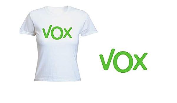 MERCHANDMANIA Camiseta Mujer Logo Partido VOX Tshirt: Amazon.es ...