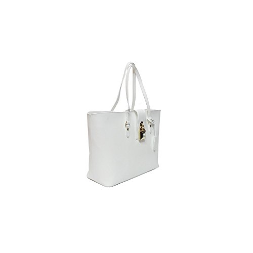 PATRIZIA PEPE Tote bag / Borsa shopping Pelle di vitello Donna Bianco