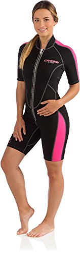 Women's Short Front Zip Wetsuit for Surfing, Snorkeling, Scuba Diving - Lido Short by Cressi: quality since - Shorts Wetsuit Ladies