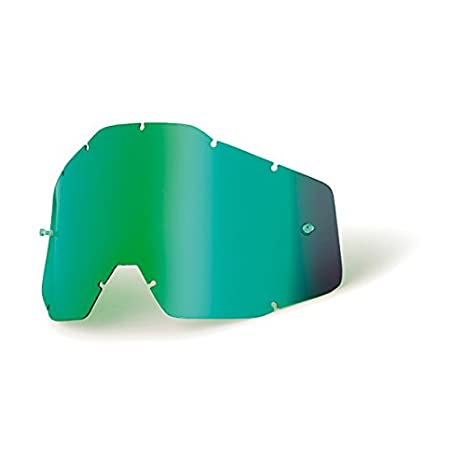 Mx Goggle Lens 100 Percent Racecraft-Accuri-Strata Verde Mirror-Smoke Anti-Fog (Default, Verde) 51002-005-02