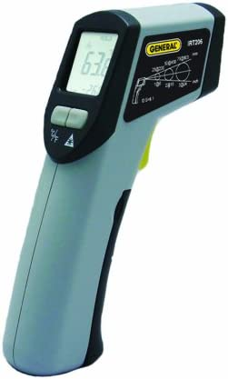 General Tools IRT206 Heat Seeker Infrared Thermometer, Mid-Range, 8 1,White