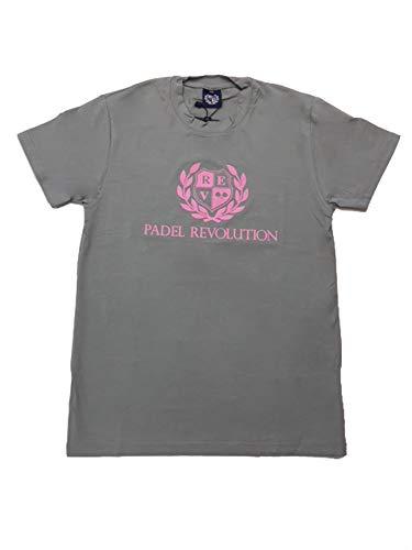 PADEL REVOLUTION Camiseta Unisex M/Corta Gris/Rosa: Amazon ...