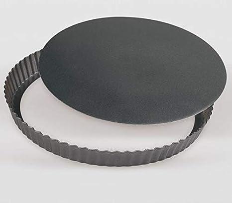 Life Style - Molde de Horno para Tarta - Base Desmontable - Acero con Recubrimiento Antiadherente - Ø 24 * 3 cm: Amazon.es: Hogar