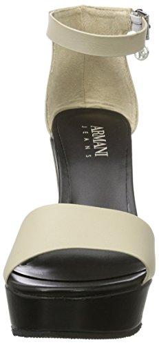Armani Jeans Damen 9251527p546 Plateau Sandalen Pink (light Beige)