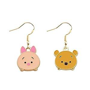 WSNANG Pooh Piglet Earring Winnie The Pooh Gift Winnie The Pooh Piglet Charm Jewelry Fashion Novelty Dangle Earrings Friendship Gift