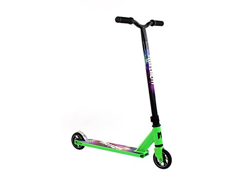 Mayhem Kick & Stunt Scooter- Galaxy Neon Green Pro Scooter