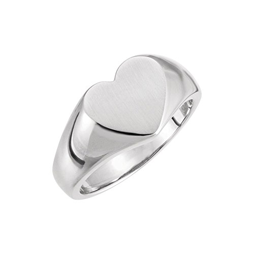 (Sterling Silver Heart Signet Ring)