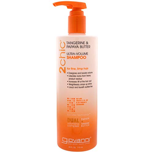 GIOVANNI- 2chic Ultra-Volume Shampoo with Tangerine and Papaya Butter- For Fine, Limp Hair (24 Fluid -