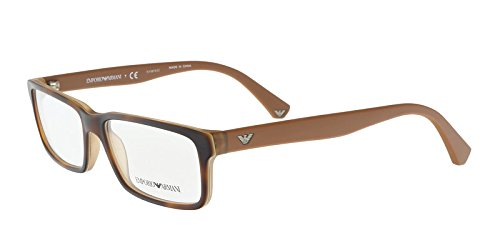 Emporio Armani Eyeglasses Top Black/Matte Turquoise EA3061 5393 - Price Armani Glasses Emporio