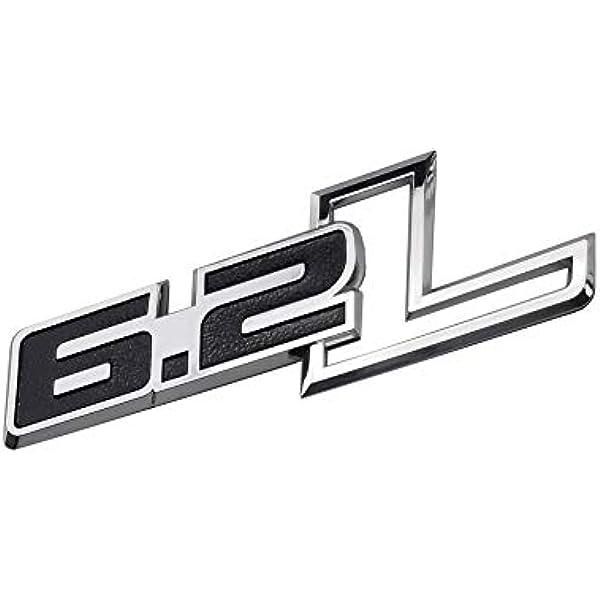 2pcs 6.2L Emblems Side Fender 3D Decals Badge Replacement for F-150 Raptor 6.2 L F150 Chrome