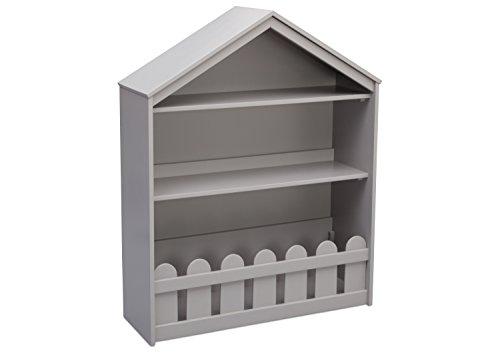Serta Happy Home Storage Bookcase, Grey