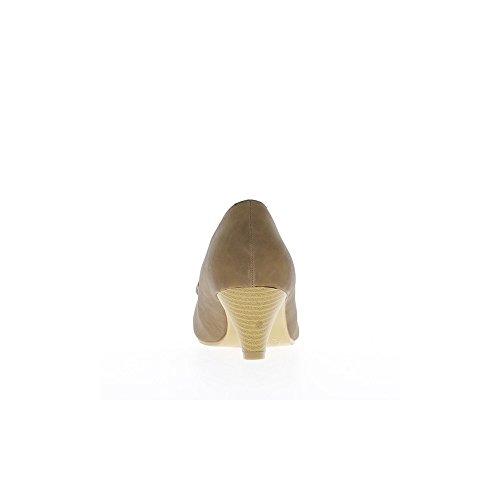 Escarpins femme taupes à talons de 5,5cm et noeud