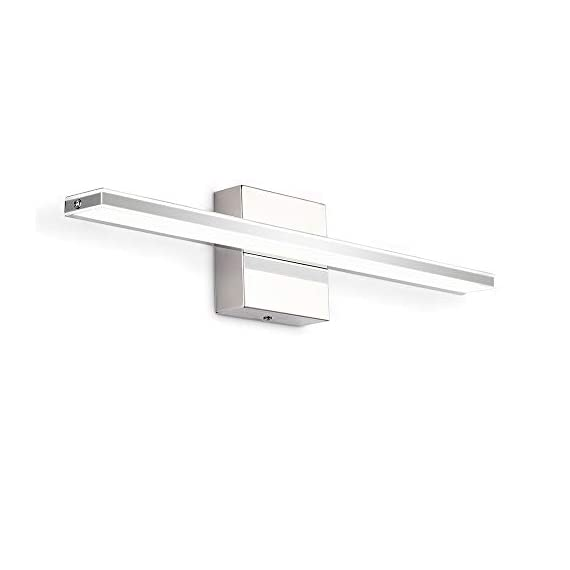 """Bathroom Vanity Light, BRIVOLART 19 Inch 12W LED Bathroom Vanity Lighting Fixtures Cool White Light 6000K - ✅[NEW DESIGN] Modern bathroom led vanity light. Ideal for using as lighting in bathrooms, bedrooms, over hospital beds, hallways, corridors, study rooms, stairways, workplaces, restaurants, hotel receptions. ✅[SPECIFICATIONS] Length :19.68"""" for 12W, distance from the wall: 3.22"""". Color temperature:6000K, Non-dimmable. ✅ [BEETER LIGHTING]: HIGH transmittance with acrylic cover, gives you perfect spotlight when you makeup, shave, read or display products. Stainless steel body with acrylic plating surface is durable, safe and easy to clean. - bathroom-lights, bathroom-fixtures-hardware, bathroom - 31b1Vlffo%2BL. SS570  -"""