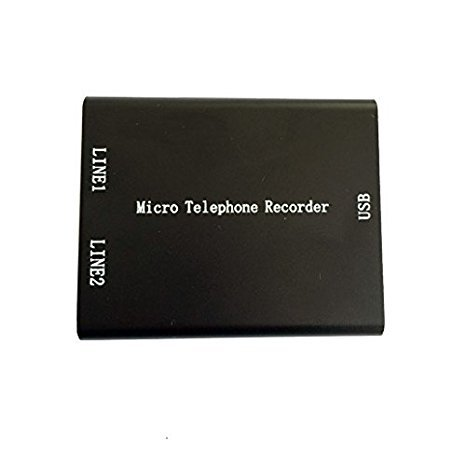 (Mini Telephone Audio Voice Recorder with 16gb Memory, SD Landline Telephone Voice Recorder for Home & Office Analog Telephone System)