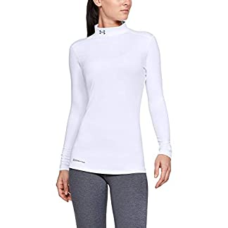 Under Armour Women's Coldgear Mock Fitted Long Sleeve Running Top 4