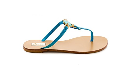 Antonio Raggini Open Toe Jewelled Sandal Turquoise BFZKyvZHaS