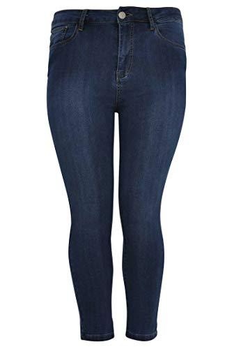 Indigo Femme Jeans Sombre Grande Yoek 7 Ème 8 Taille OCqqnH0