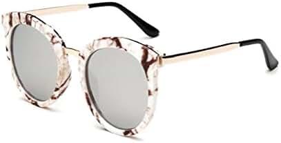 GAMT Round Marble Sunglasses Oversize Retro Tide Designer Eyewear for Women