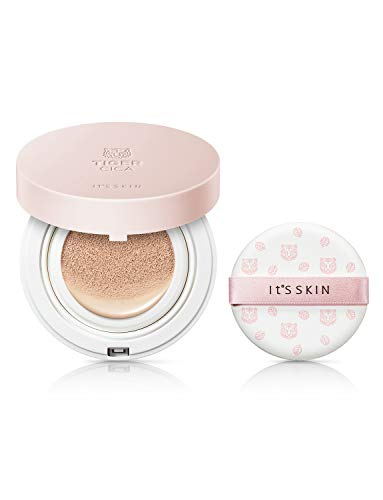 It'S SKIN Tiger Cica Blemish Care Cushion 01 Light Skin SPF50+ PA++++ 15g 0.52 fl. oz.- foundation makeup cushion cosmetics face sunscreen compact skin care poreless luminous full coverage -