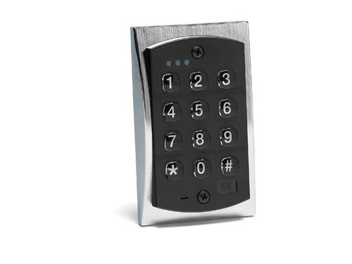 Linear 2000E Keypad/120C/1 Relay/Indoor/Outdoor, Satin Chrome