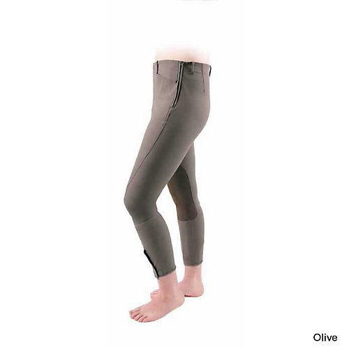 Shires Ladies Oakland Side Zip Breeches (Chocolate, 30) (Chocolate Side)