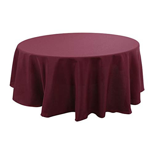 uxcell Round Tablecloth for 6 Foot Table in Washable Polyester Waterproof 79