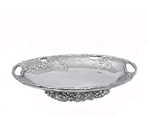 (Arthur Court Designs Aluminum Grape Footed Side Dish Server 11 inches long)