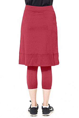 Snoga Full Coverage Workout Pencil Skirt w/Attached Leggings
