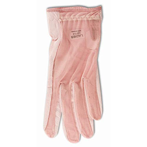(Lady Classic Ladies Solar Tan Golf Gloves-Pink Ribbon Full Finger Small Left)