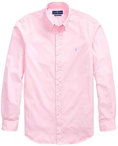 And Ralph Lauren Tall Big - Ralph Lauren Mens Solid Poplin Sport Shirt (M, Pink)