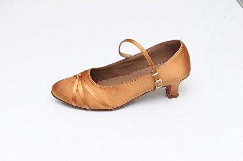 Schuhe cm Modern Frauen Latin Brown Schuhe mit Walzer Erwachsene Freundschaft weiche untere Dance 5 Höhe mit Tanzschuhe Tanzschuhe ShangYi wTd1xqEHT