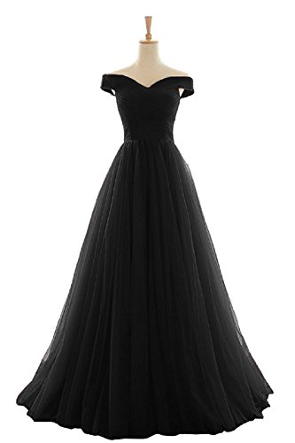 A Bainjinbai Lang Abendkleider Shoulder Brautjungfernkleider Damen Black Cocktail Off Line Elegant Ballkleider H4ttBqr