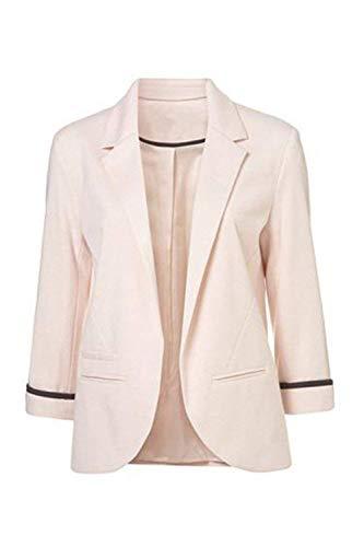 Pour Taille Cardigan Small Travail Casual Printemps Rose Solide Blazer coloré Manteaux Femmes Automne Oudan 5qxwHAUU