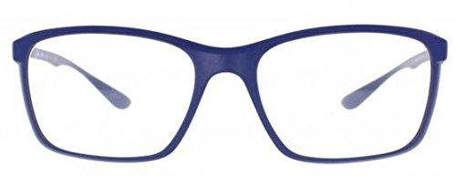 Ray-Ban Eyeglasses RX7036-5439 Matte Dark Blue Frame Clear Demo Lenses - 52 16 145