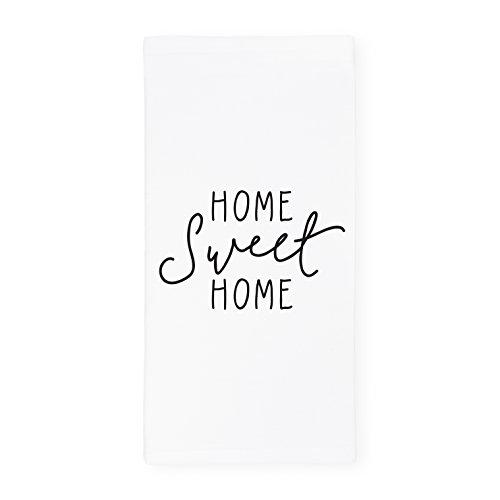 Tile Edge Linen (The Cotton & Canvas Co. Home Sweet Home Soft and Absorbent Kitchen Tea Towel, Flour Sack Towel, Dish Cloth, 1-Count)