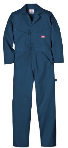 Cotton Welding - Dickies Men's Deluxe Cotton Coverall, Dark Navy, Small/Regular