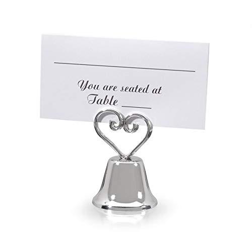 Victoria Lynn 1404-01A Bridal Bell Sliver HRT Place Card Holder 12Pc