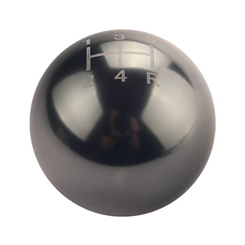 DEWHEL Round Ball Billet M12x1.25 5 Speed Short Throw Shifter Shift Knob MT Manual Gearbox Screw On ()