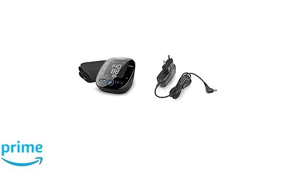 OMRON MIT5s Connect - Tensiómetro de brazo, Bluetooth, aplicación OMRON Connect para móviles, indicador de hipertensión + Adaptador Corriente: Amazon.es: ...