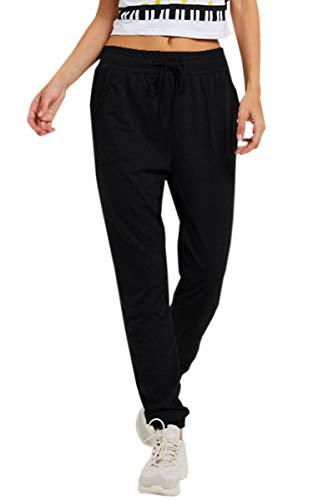 63c4941f6ac ECOWISH Women's Casual Drawstring Waist Athletics Essential Yoga Sweatpants  Jogger Lounge Pants with Pockets Black S