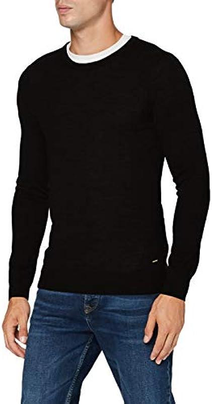 Scotch & Soda Nos-Classic Merino Crew Neck Pull sweter męski: Odzież