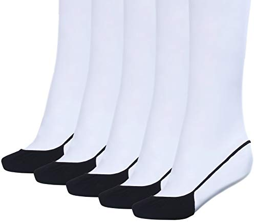 Sanvan Women's Low Cut Socks No Show Liner Half Socks with Sling Back,5 Pairs (Black) from Sanvan