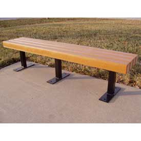 Trailside 6' Flat Bench, Recycled Plastic, Cedar